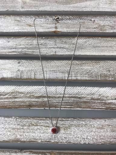 January Halo Birthsotne Necklace
