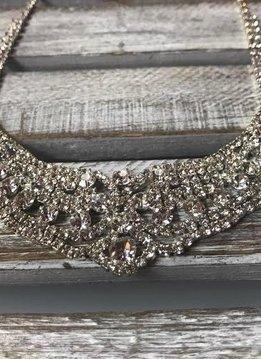 Sparkly Rhinestone Bib Necklace