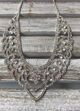 Sparkly Rhinestone Chandelier Heart Necklace