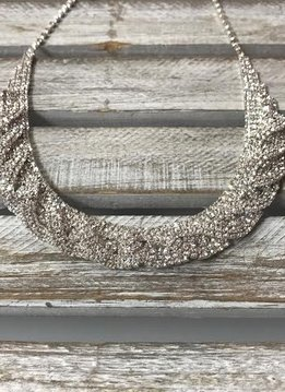 Sparkly Overlapping Rhinestone Necklace