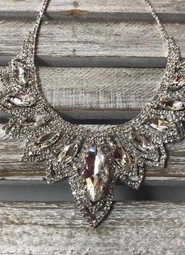 Sparkly Marquise Rhinestone Necklace