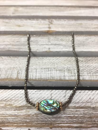 Handmade Abalone Shell with Seed Bead Choker