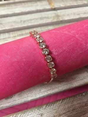 Sparkling Round CZ Adjustable Bracelet