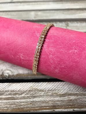 Gold Rhinestone Adjustable Bracelet