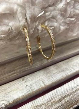 Gold Plated Swarovski Crystal Hoops