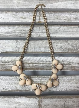 Blush Pink Statement Necklace Set