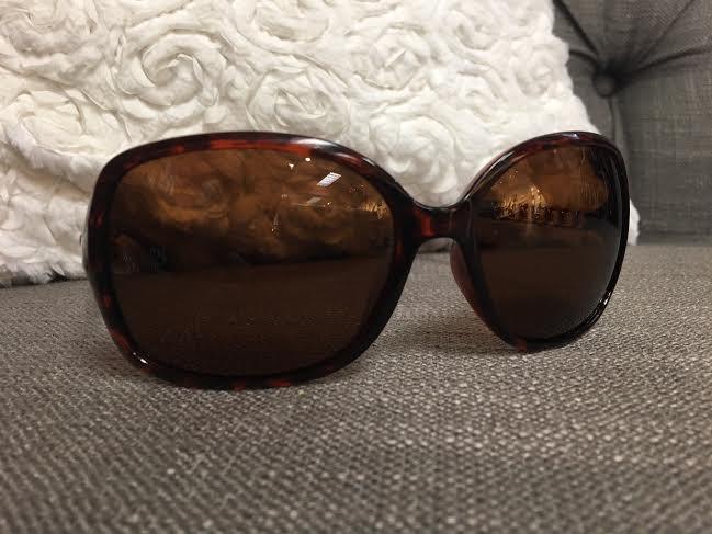 Polarized Round Lens Tortoise Shell Frame Sunglasses