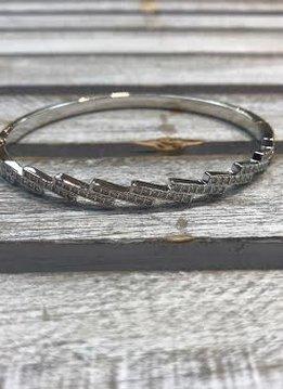 Silver Cubic Zirconia Bangle Bracelet