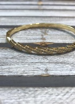 Delicate Cubic Zirconia Gold Bangle