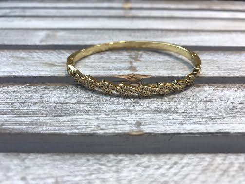 Delicate Cubic Zirconia Gold Bangle