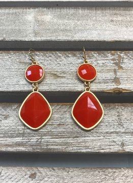 Orange Dangling Earrings