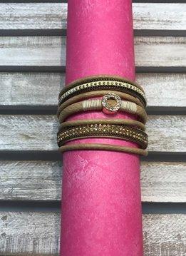 Magentic Clasp Tan Bracelet