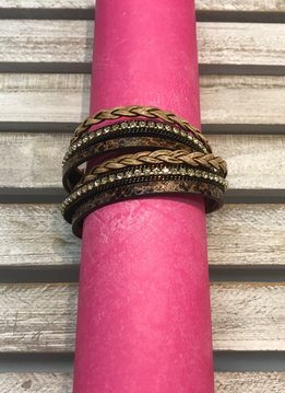 Magnetic Clasp Brown Braid Wrap Bracelet