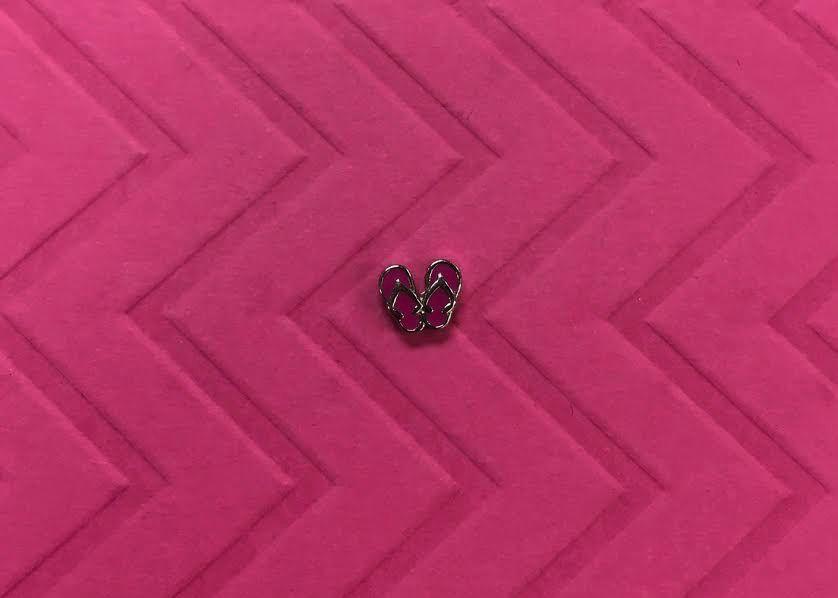 Pink Flip Flop Floating Charm