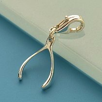Wishbone Sterling Silver Charm with Clasp