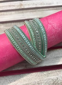 Mint Green Wrap Bracelet with Magnetic Closure