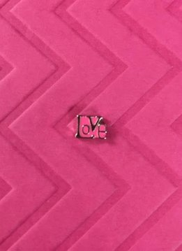 Pink Love Floating Charm
