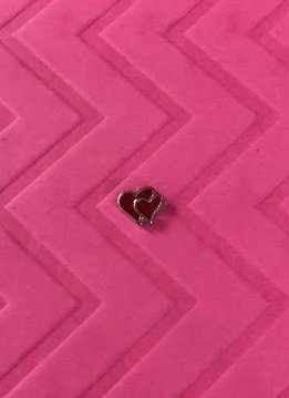 Red Big and Little Hearts Floating Charm