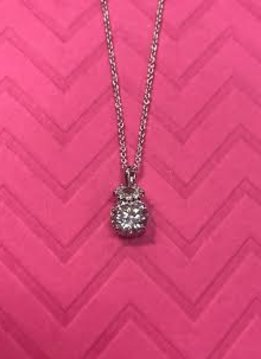 Silver Triple Cubic Zirconia Necklace Pendant