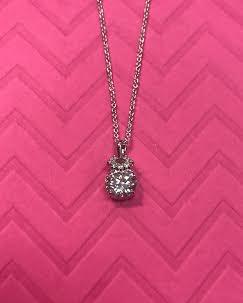 Silver Triple Cubic Zirconia Necklace Pendant