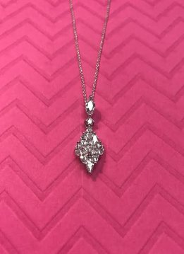 Triple Cubic Zirconia Diamond Necklace