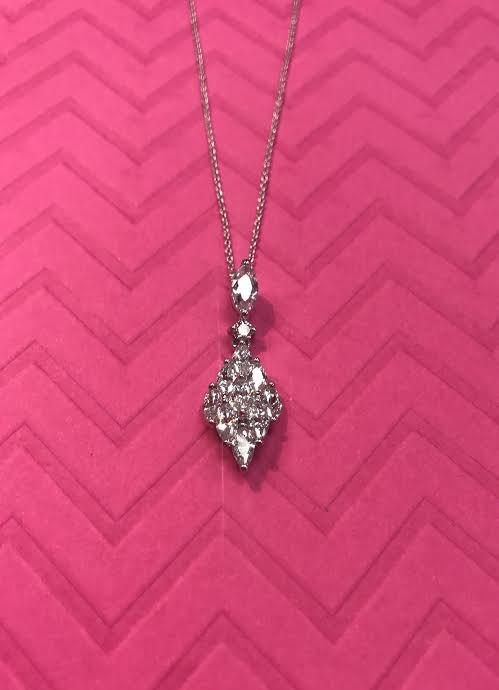 Triple Cubic Zirconia Diamond Necklace