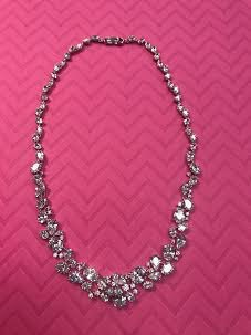 Triple Cubic Zirconia Necklace with the Cubic Zirconia Going All the Way Around