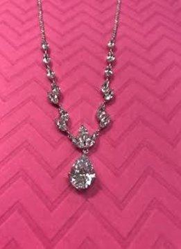 Triple Cubic Zirconia Necklace