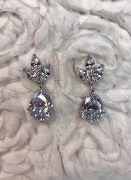 Triple Cubic Zirconia Earrings