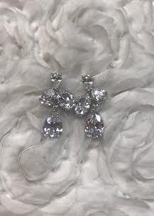 Stunning Triple Cubic Zirconia Earrings