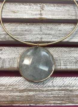 Abalone Jumbo Semi Precious Collar Necklace