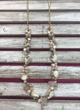 Pink Mix Beaded Layer Necklace