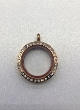 Rose Gold 25mm Round Floating Charm Locket
