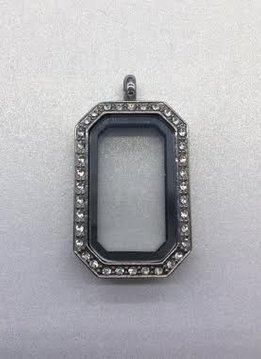 Silver Rectangle Floating Charm Locket