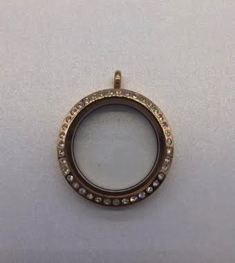 Rose Gold 30mm Round Floating Charm Locket