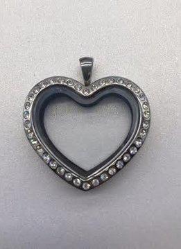 Heart Crystal Floating Locket