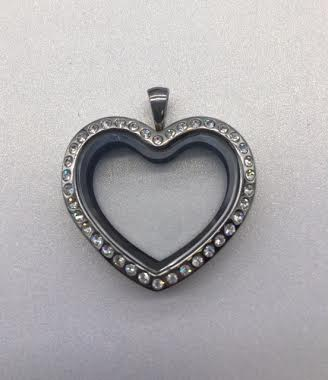 Heart Crystal Floating Locket