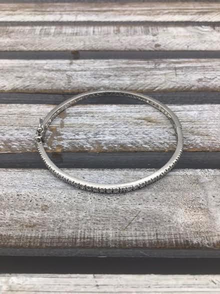 Cubic Zirconium Bangle Bracelet