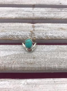 Sterling Silver Ring with Oval Turquoise Stone