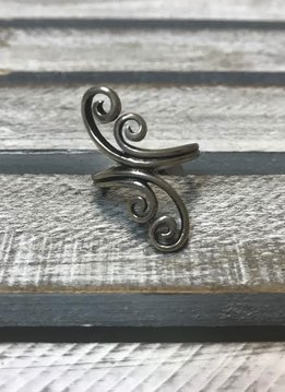 Sterling Silver Ring Double Double Twist