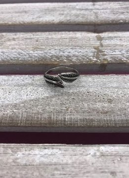 Stainless Steel Double Leaf Ring