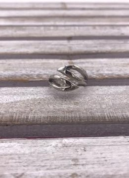 Stainless Steel Modern Open Ring