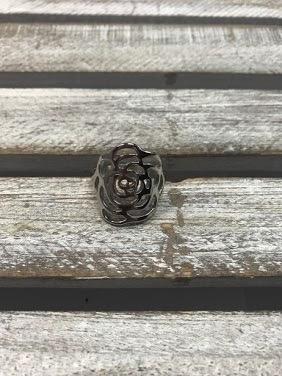 Stainless Steel Flat Rose Ring