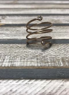 Sterling Silver Rose Gold Plated Spiral Ring