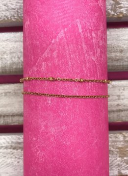 Stainless Steel Rose Gold Layered Anklet