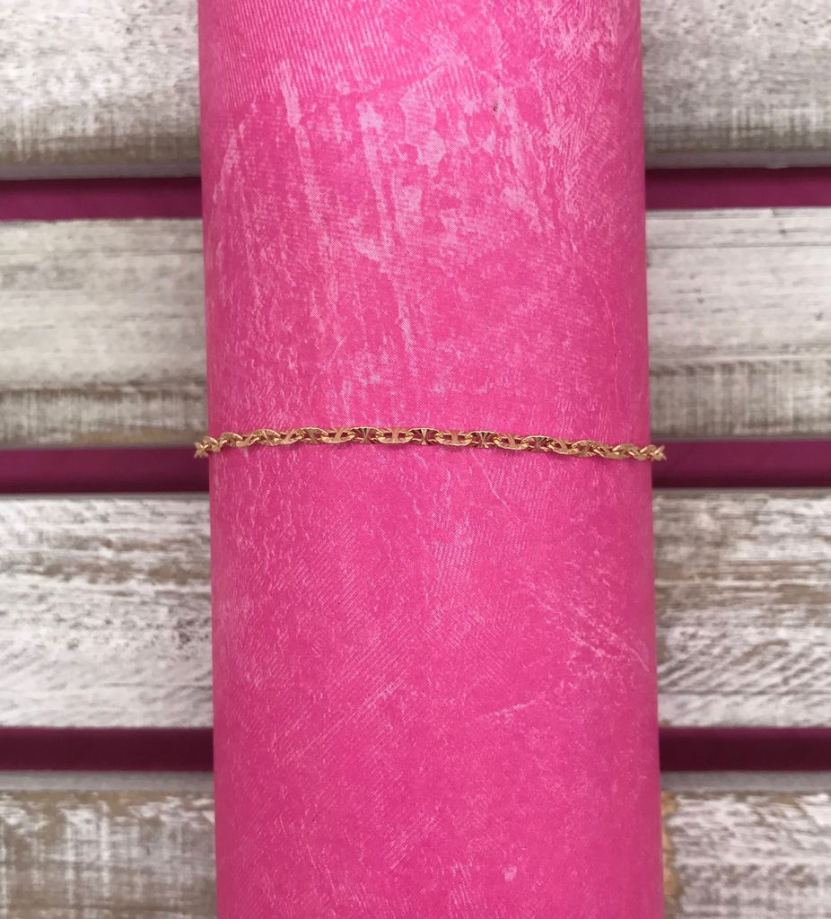 Sterling Silver Rose Gold Anklet
