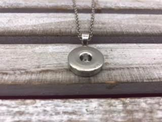 18mm Simple Snap Pendant Necklace