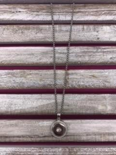 18mm Snap Necklace with Border