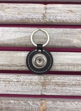 Leather Snap Key Chain - Round