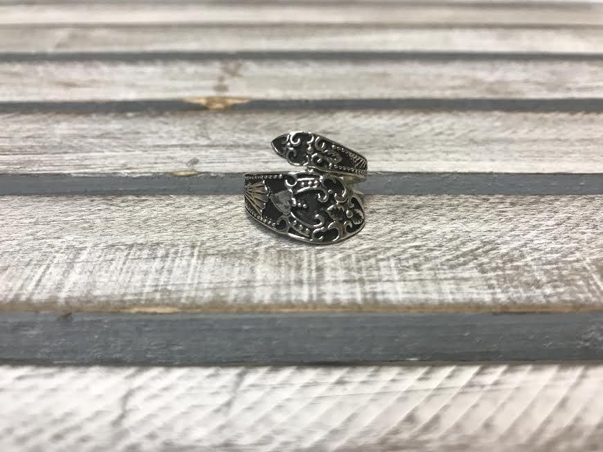 Sterling Silver Vintage Spoon Ring